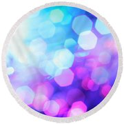Shine A Light Round Beach Towel