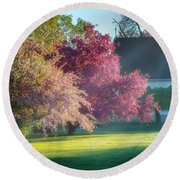 Shine The Light On Me Round Beach Towel