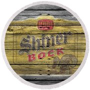 Shiner Bock Round Beach Towel