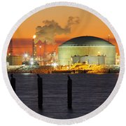 Shiny Refinery #3 2am-27808 Round Beach Towel