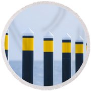 Ship Guides Round Beach Towel