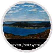 Ship Harbour From Sugarloaf Hill - Historic Town - Atlantic Charter Round Beach Towel