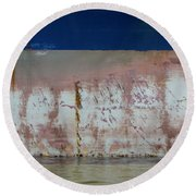 Ship Rust 1 Round Beach Towel
