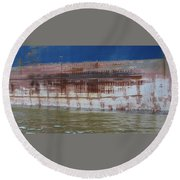 Ship Rust 4 Round Beach Towel