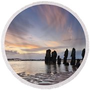 Ship Wreck Round Beach Towel