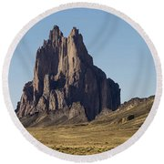Shiprock Panorama - North West New Mexico Round Beach Towel