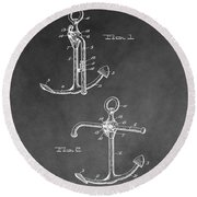 Ship's Anchor Patent Round Beach Towel
