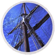 Ships Rigging - 2 Round Beach Towel