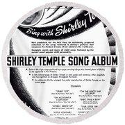 Shirley Temple Song Album Round Beach Towel
