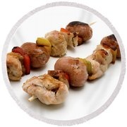 Shish Kebab Round Beach Towel