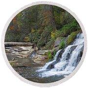 Shoal Creek Area Waterfalls Round Beach Towel
