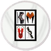 Shoe Love Quad Round Beach Towel