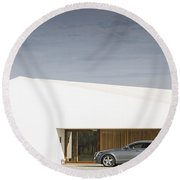 Shooting Brake Round Beach Towel