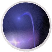 Shooting Star Abstract Round Beach Towel