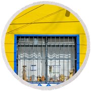 Shop Window - Mexico - Photograph By David Perry Lawrence Round Beach Towel
