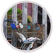 Shopping Cart Round Beach Towel