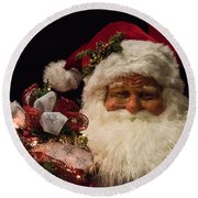 Shopping Mall Santa Round Beach Towel