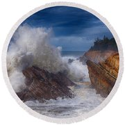 Shore Acre Storm Round Beach Towel