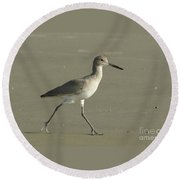 Shore Bird. Round Beach Towel