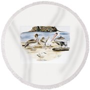 Shore Birds Round Beach Towel