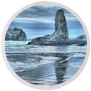 Shore Guardians Round Beach Towel