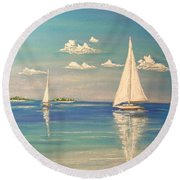The Cays Round Beach Towel