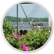 Shore Scene Round Beach Towel