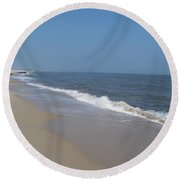 Shoreline At Cape May Round Beach Towel