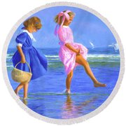 Shoreline Skippers Round Beach Towel