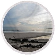 Shores Of Holgate Round Beach Towel