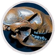Short Faced Bear Round Beach Towel