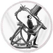 Short-focus Telescope, 1881 Round Beach Towel