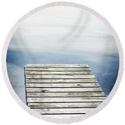 Short Pier Round Beach Towel