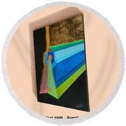 Shot Shift - Hermite 1 Round Beach Towel