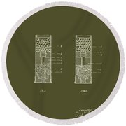 Shotgun Cartridge Patent Round Beach Towel