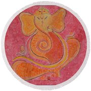 Shree Ganesh Round Beach Towel