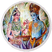 Shree Sita Ram Round Beach Towel