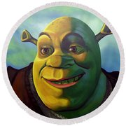 Shrek Round Beach Towel by Paul Meijering