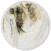 Shroud Of A Lady Round Beach Towel