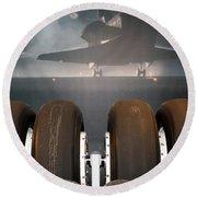 Shuttle Tires Round Beach Towel