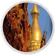 Shwe Dagon Pagoda Round Beach Towel