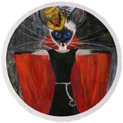 Siamese Queen Of Transylvania Round Beach Towel by Jamie Frier