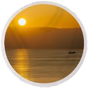 Sicilian Dawn Round Beach Towel