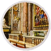 Side Altar In St Peters Basicilca Round Beach Towel
