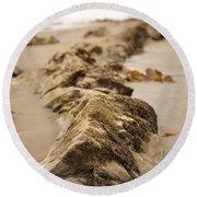 Side Winding Round Beach Towel