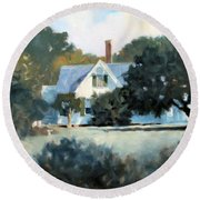 Side Yard Round Beach Towel