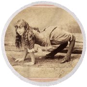 Sideshow Camel Girl, 1886 Round Beach Towel