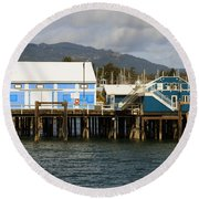 Sidney Harbour Wharf Round Beach Towel