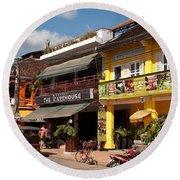 Siem Reap 02 Round Beach Towel