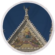 Siena Cathedral Round Beach Towel